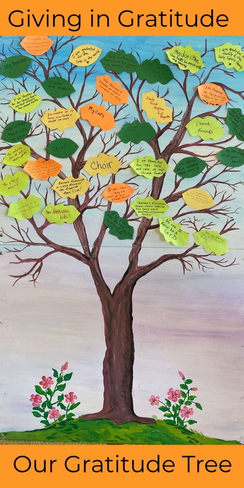 Photo of our Gratitude Tree